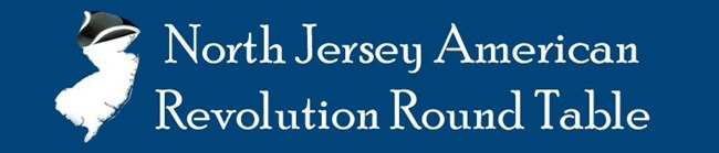 North Jersey American Revolution Round Table logo shows an outline of the state of New Jersey wearing a tri-corner hat.
