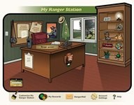 Screenshot of the Web Ranger website homepage depicting an office with desk and bookshelf.