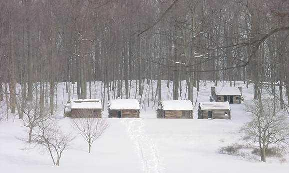 solder huts-in-snow