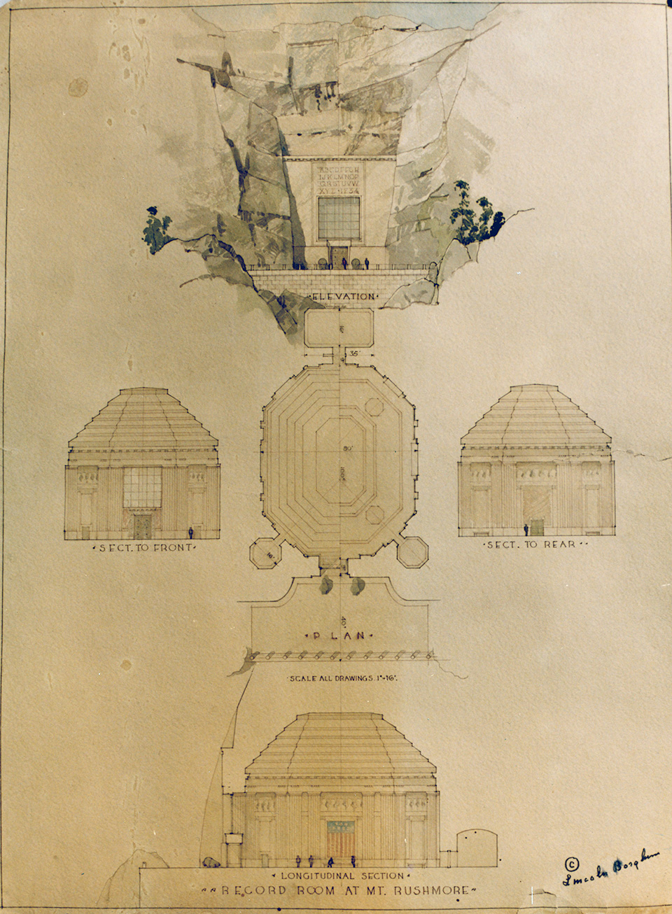 Plans for the Hall of Records.