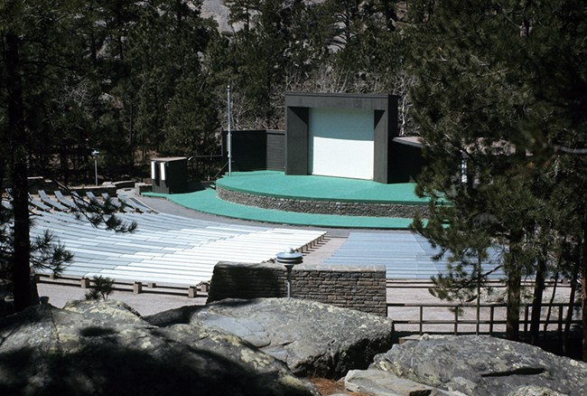 Photo of the original amphitheater built in 1959.
