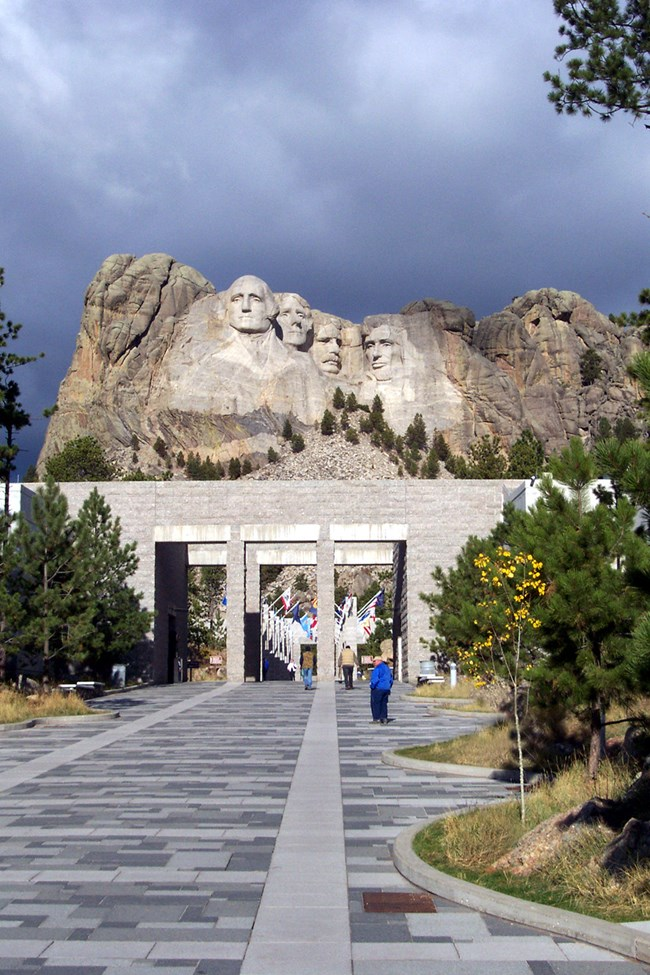 The walk way leading towards Mount Rushmore as it looks today.
