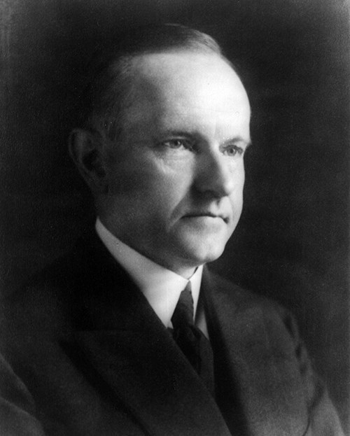 Black and white photograph of Calvin Coolidge.