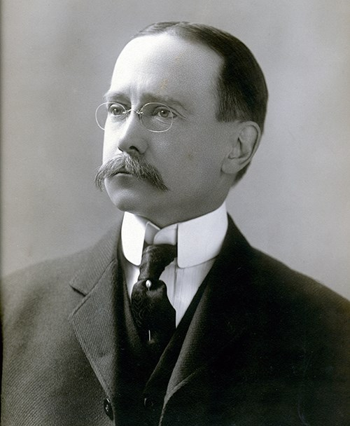 Black and white photograph of Charles E. Rushmore.