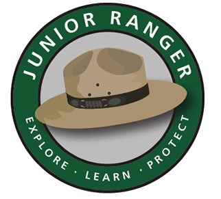 Junior Ranger logo - Explore, Learn, Protect.