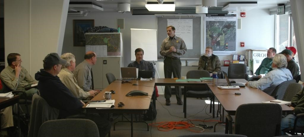National Park Service Rapid Resource Assessment Team meeting to develop mountain pine beetle action plan.