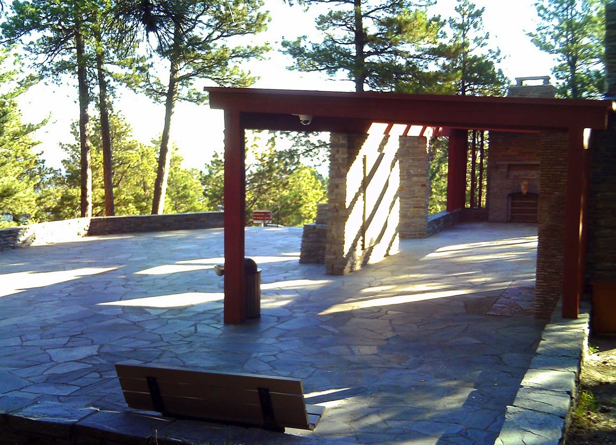 Photo of the Borglum View Terrace, a site that can be used for first amendment activities and weddings.