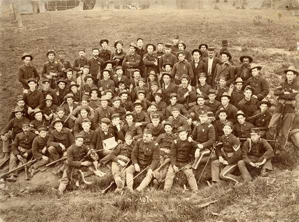 Company C, 6th Infantry Regiment, Illinois Volunteers, Spanish-American War, c1898