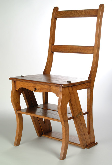 Ladder Back Chair C1900. Only 4u0027 10u201d, Wilhelmine Schuchhardt Used This  Folding Stepladder/chair. It Is Now Called U201cWilhelmineu0027s Chair.u201d