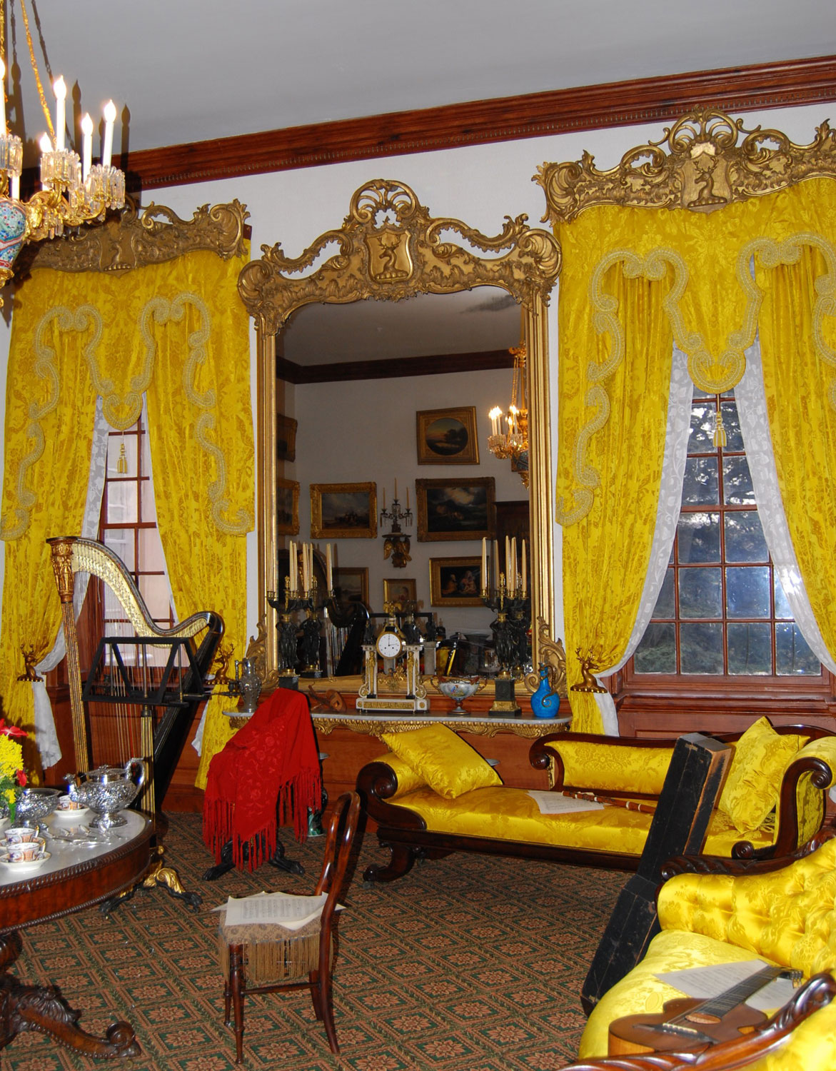 Hampton national historic site - Pier Mirror And Window Cornices Two Of Three
