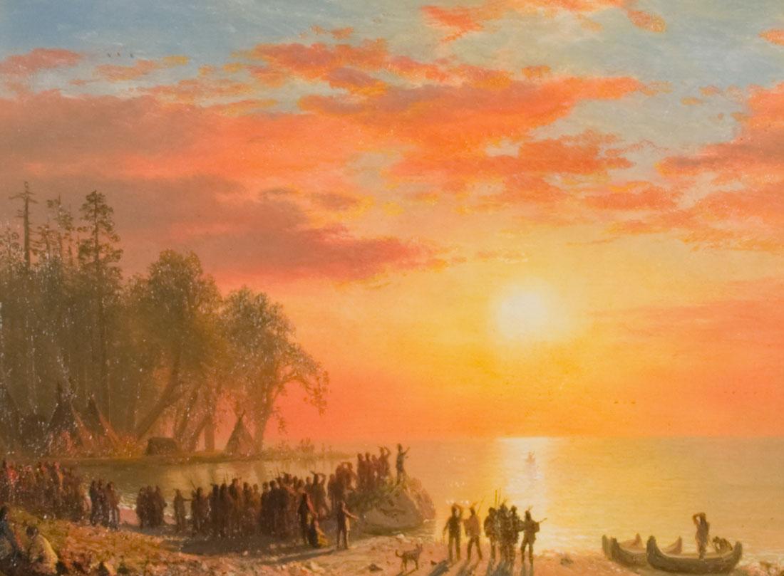 Albert Bierstadt Painting In The National Art Museum In Washington