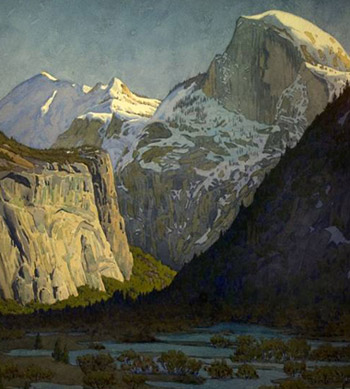 Image Of Painting Titled Winter Evening In Yosemite Valley
