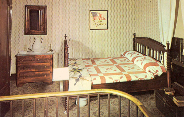 1950s bedroom postcard of the boys 39 room