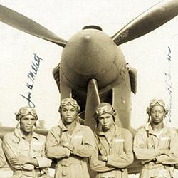 c3fbbb4dec9 Cadet Robert Marshall Glass in his flight training gear. Tuskegee Airmen  Group Photograph