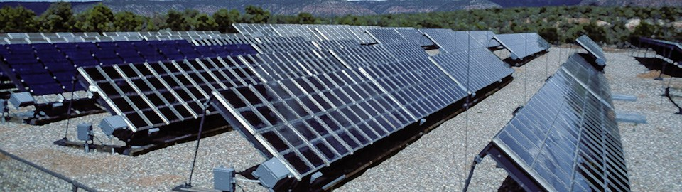 an array of solar panels