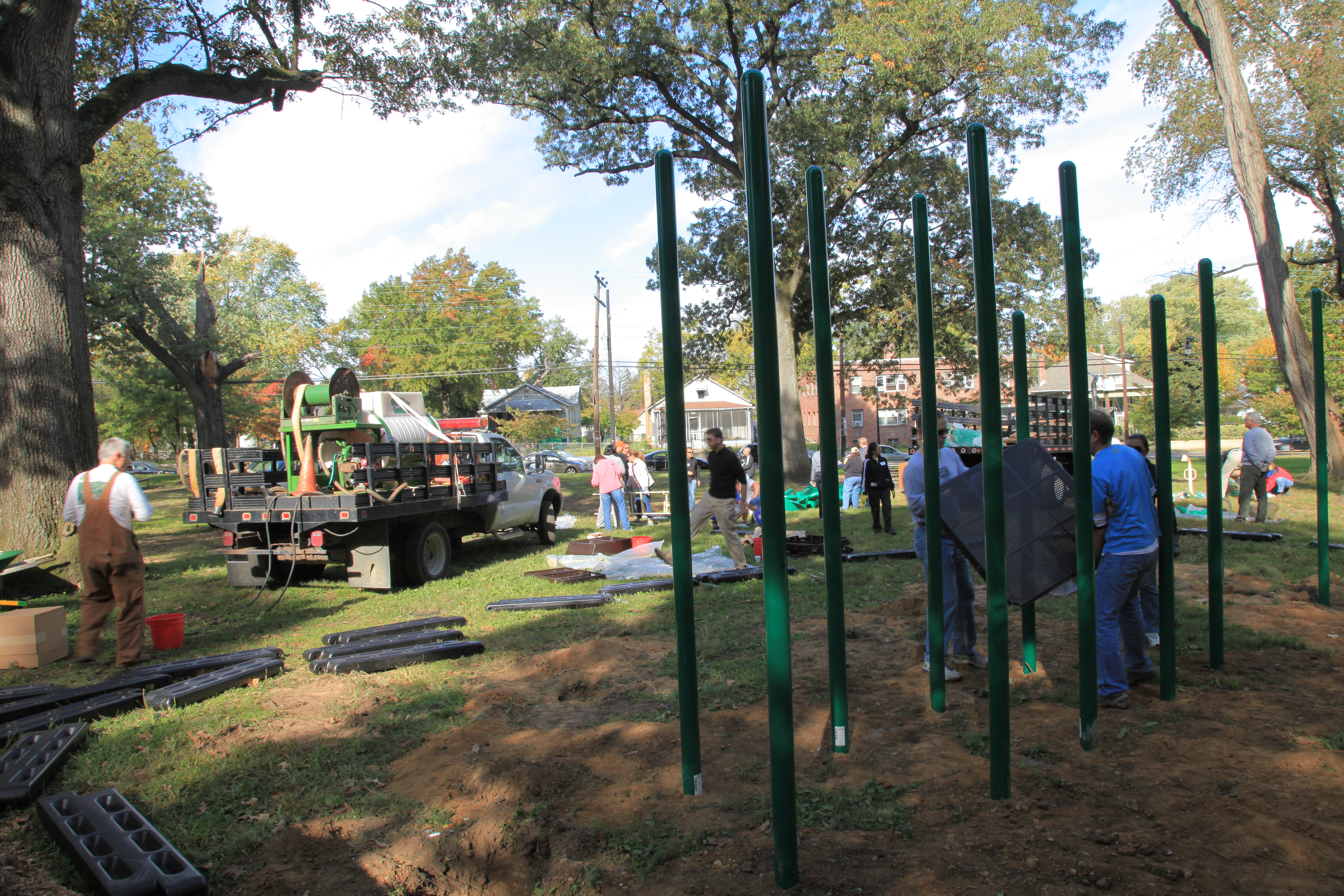 Playground Installation at Fort Dupont Park