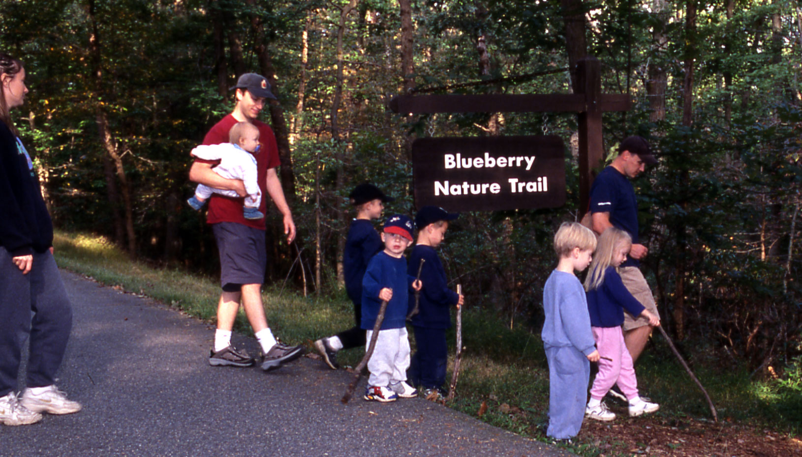 A spring hike on the Blueberry Nature Trail in Greenbelt Park