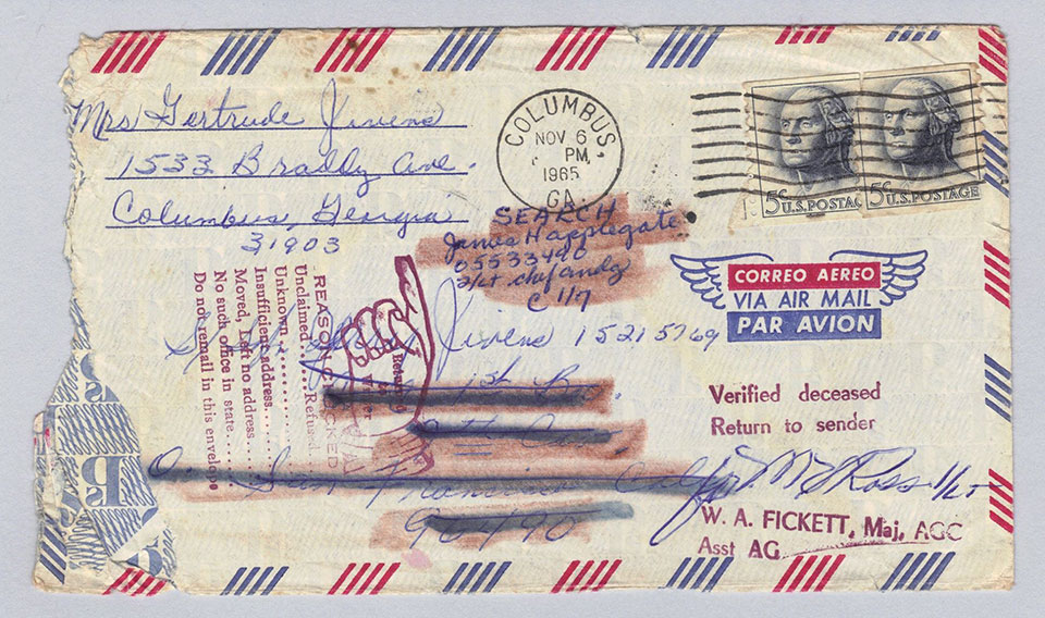 Envelope from Jerry Jivens in the Vietnam Veterans Memorial Collection
