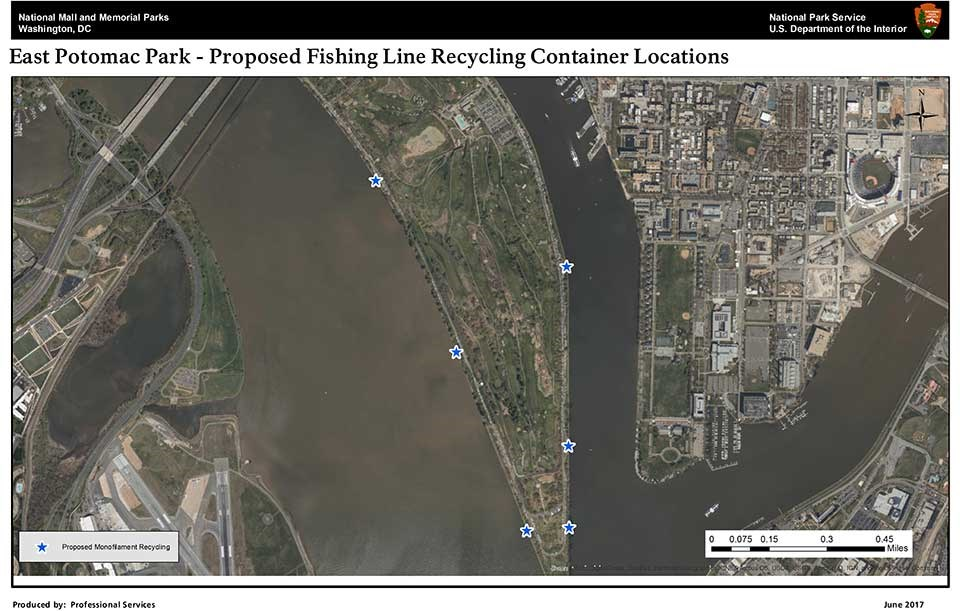 Locations of Monofilament Recycling Stations