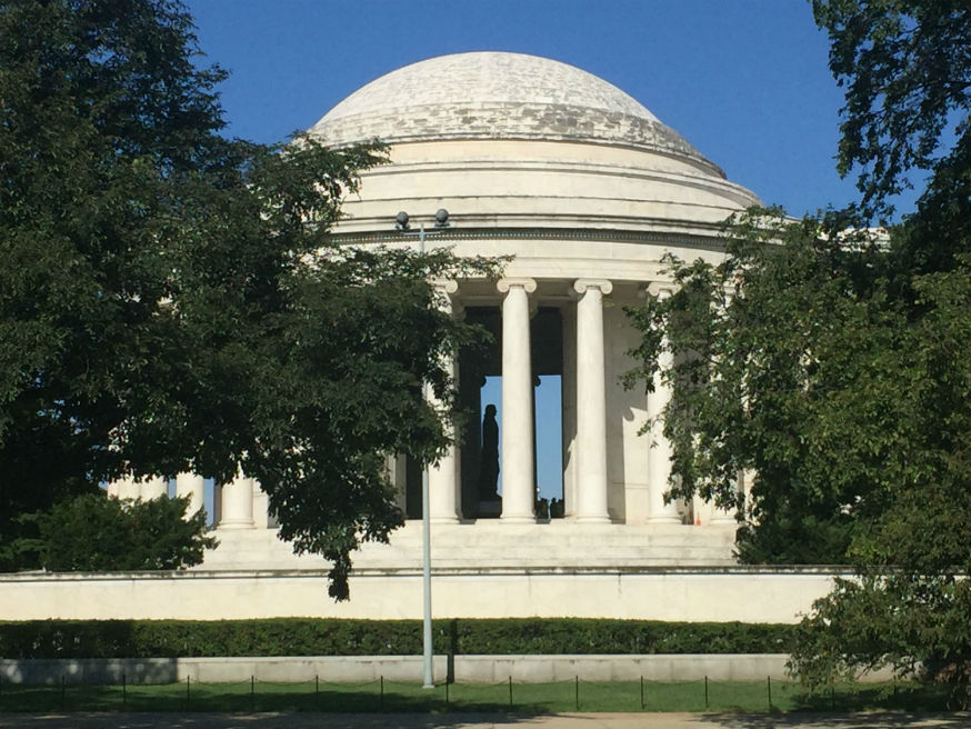 Biofilm on Jefferson Memorial dome