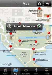 National Mall and Memorial Parks App Maps