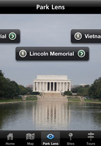 National Mall and Memorial Parks App Park Lens