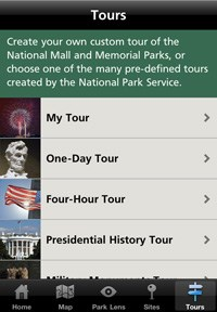 National Mall and Memorial Parks App Tours