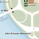 Small map showing where the John Ericsson Memorial is located.