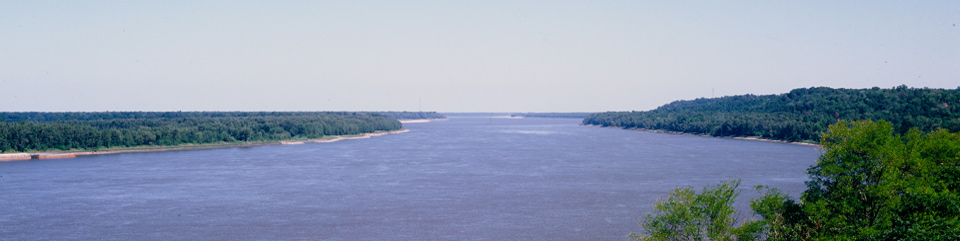 Mississippi River from the Bluffs of Natchez