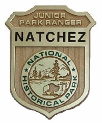 Junior ranger badge for Natchez National Historical Park