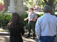 park ranger leading walking tour