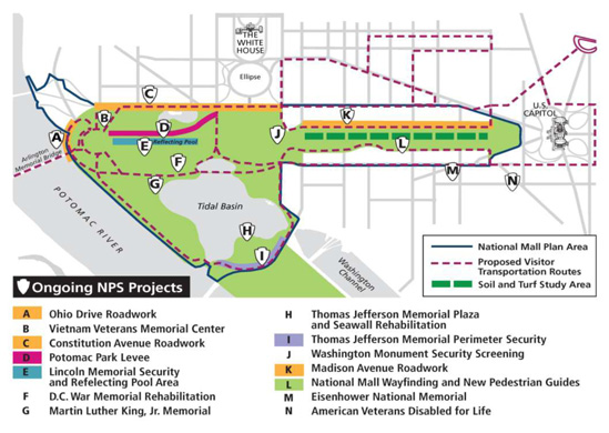 National Mall Project Updates – Site Security Plan For Construction Project