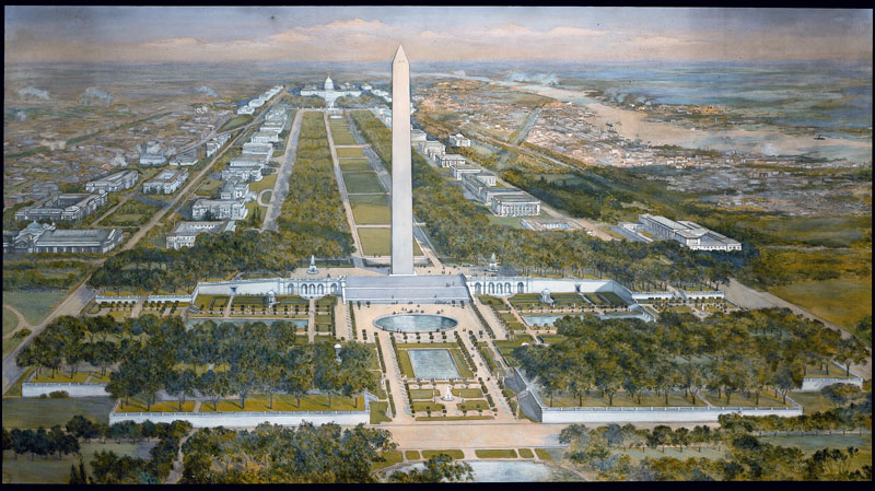 National mall plan history for Who designed the basic plan for washington dc