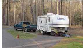 Rocky Springs Campground Host Site includes full hook-ups