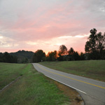 the sunrises over the natchez trace parkway