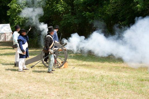 Firing at bicentennial commemoration