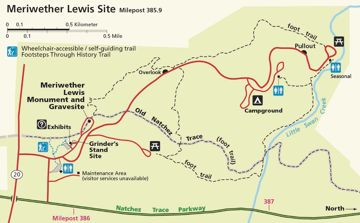 Meriwether Lewis Site Map