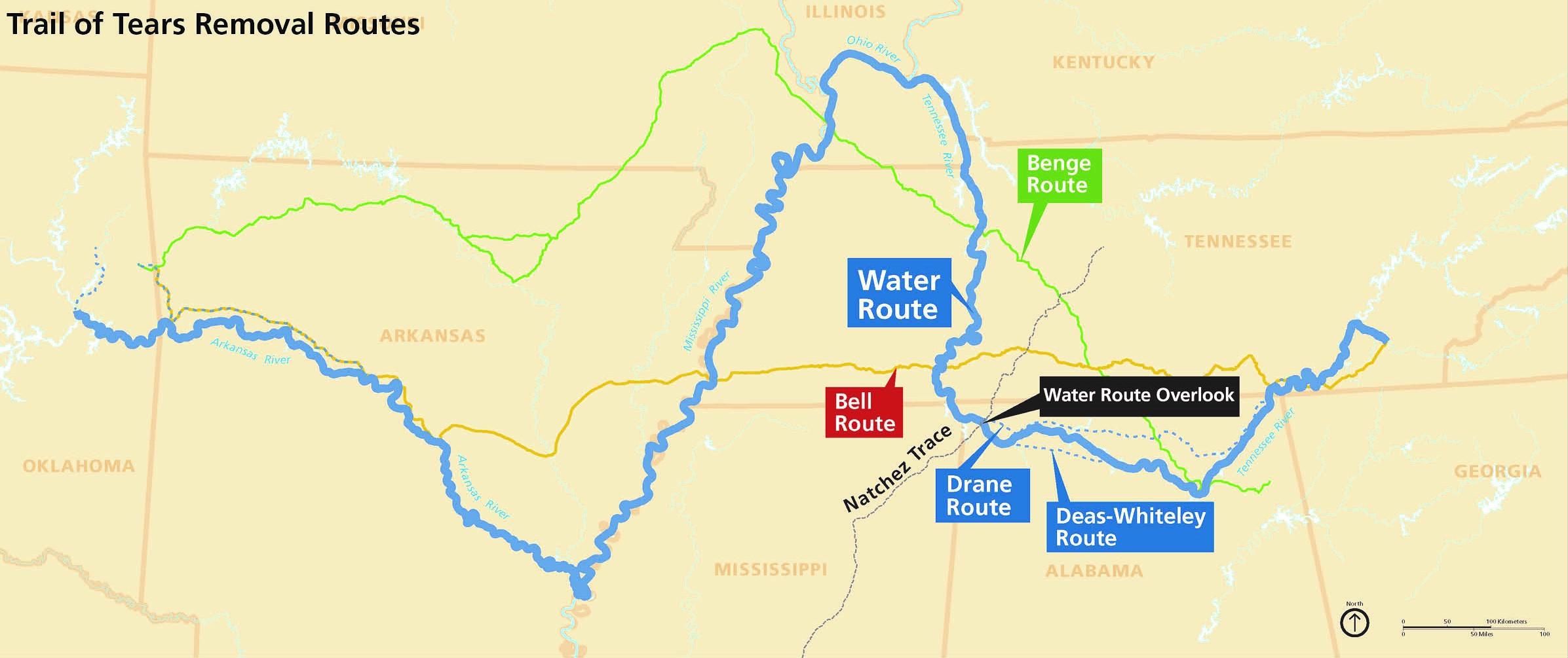 Trail of Tears on the Natchez Trace - Natchez Trace Parkway