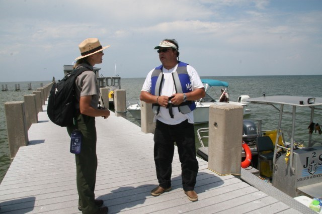 A Parkway employee serves as a public information officer on the Gulf Oil Spill response.