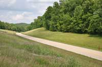 The Natchez Trace Parkway at milepost 313 in Alabama.