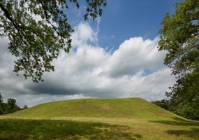 Emerald Mound is the second largest Mississippian period ceremonial mound in the United States.