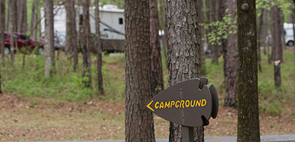 Camping is a popular recreation along the Parkway in the Spring and Fall.