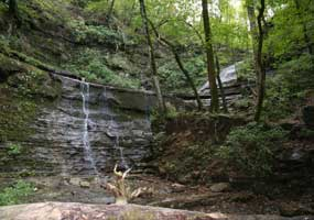 Jackson Falls at milepost 404.7 of the Natchez Trace Parkway.