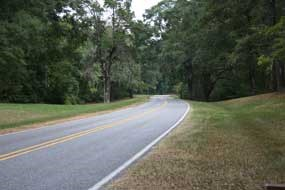 The Natchez Trace Parkway at milepost 9.