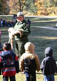 Children from a local school attend a ranger program.