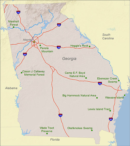National Natural Landmarks by state - National Natural ... on mississippi's state map, georgia state parks map, florida's state map, georgia's nature, california's state map, georgia's golden coast, alabama's state map, iowa's state map, georgia state natural resource map, state of georgia county map, savannah georgia state map, georgia's 13th congressional district, oregon's state map, georgia state capital map, georgia's population of people, michigan's state map, kentucky's state map, georgia's history, washington's state map, georgia's 1st congressional district,