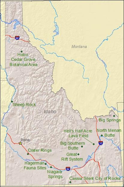national parks in idaho map National Natural Landmarks By State National Natural Landmarks national parks in idaho map