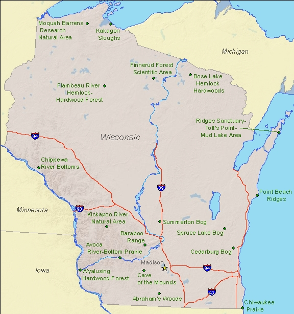 Wisconsin On Map Of Us - Wisconsin-on-map-of-us