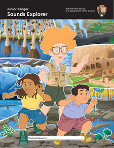 Image of the cover of the Junior Ranger Sounds Explorer booklet
