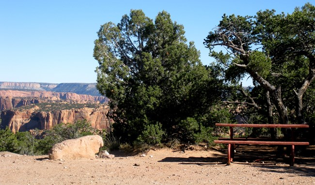 A site at Canyon View Campground.